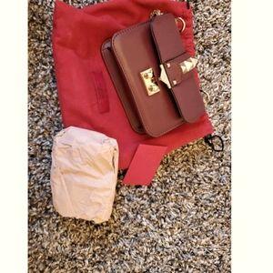 Valentino Garavani glam lock leather crossbody bag